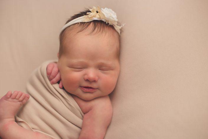 Baby Photo Shoot Glasgow - baby girl smiling