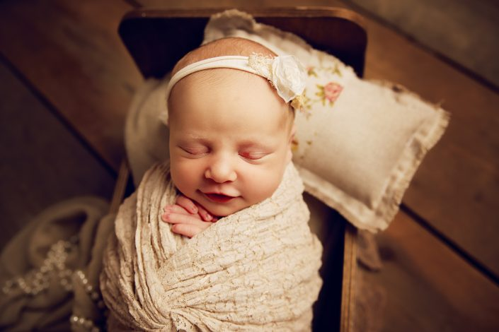 Newborn Photographer Glasgow - baby prop shot