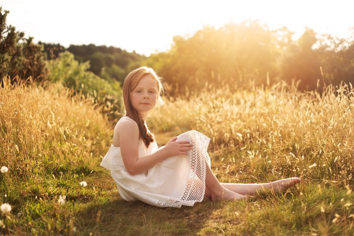 Family Photographer Glasgow - girl with red hair