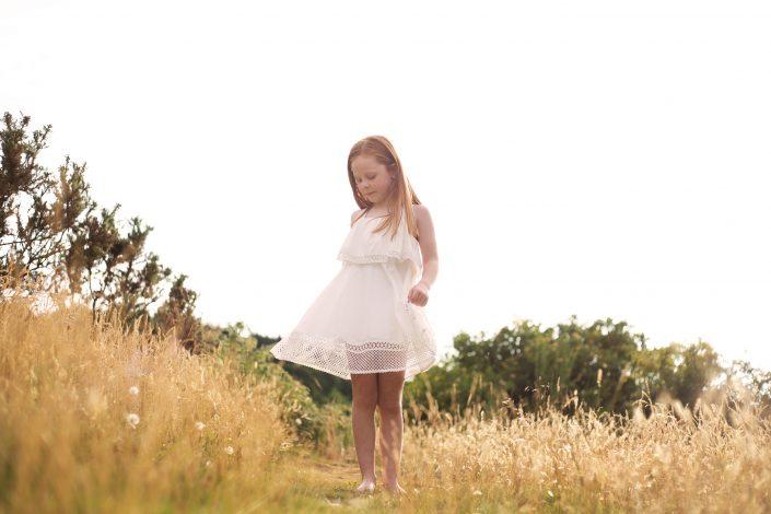 Family Photographer Glasgow - girl twirling