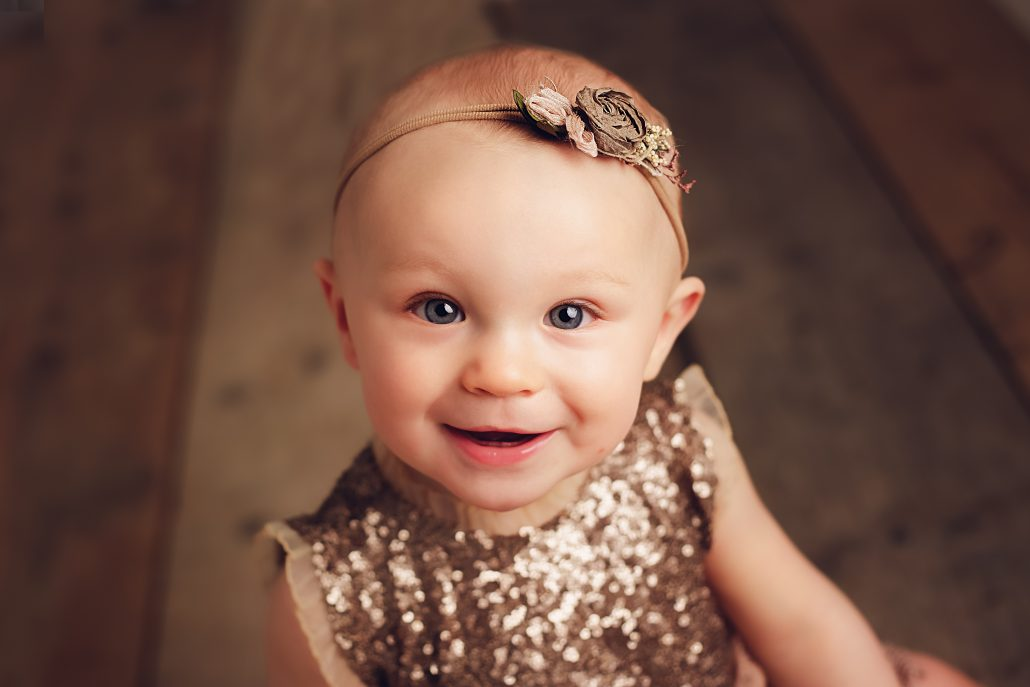 baby girl smiling - baby photographer glasgow